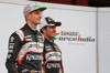 FORCE INDIA VJM09, (L to R): Nico Hulkenberg (GER) Sahara Force India F1 with Sergio Perez (MEX) Sahara Force India F1. 22.02.2016.