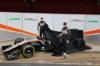 FORCE INDIA VJM09, (L to R): Nico Hulkenberg (GER) Sahara Force India F1 e team mate Sergio Perez (MEX) Sahara Force India F1 unveil the Sahara Force India F1 VJM09. 22.02.2016.