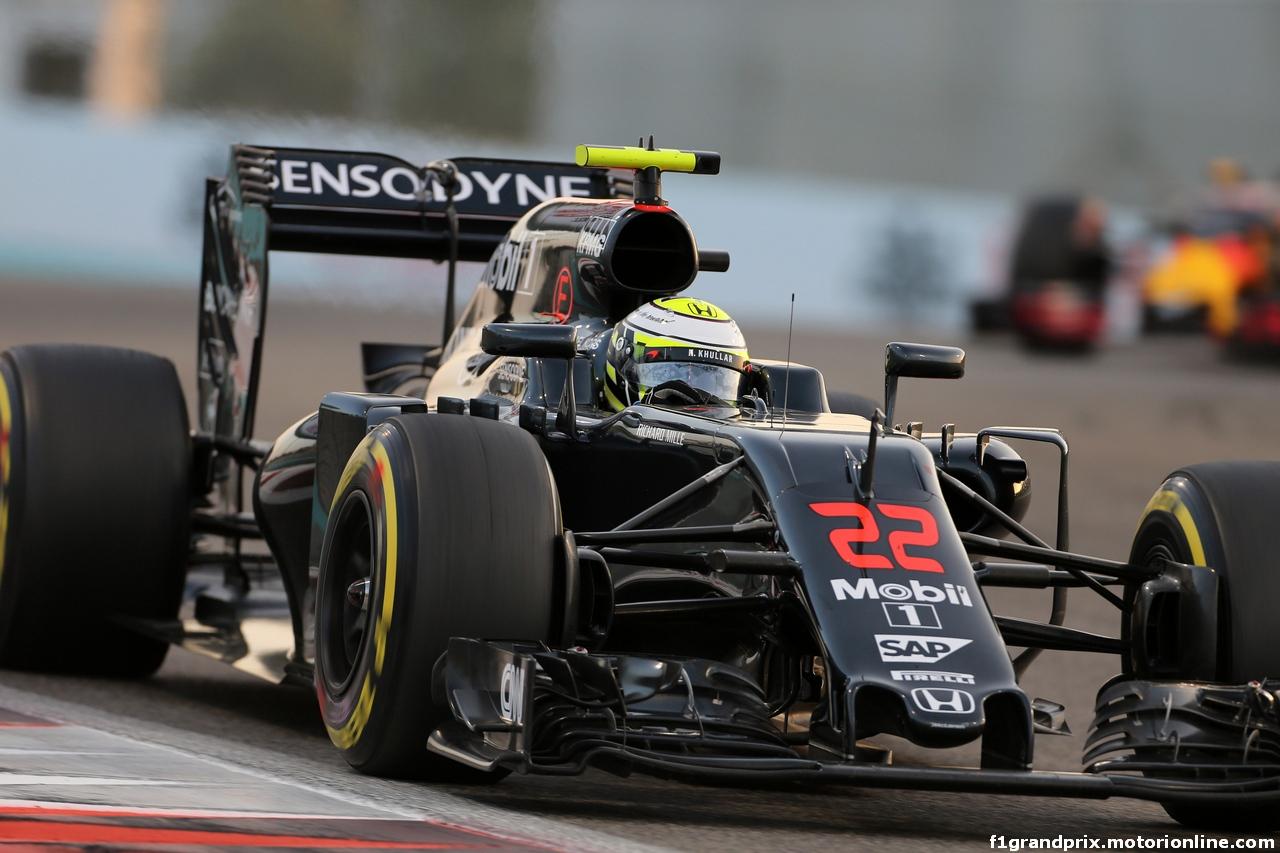 GP ABU DHABI, 27.11.2016 - Gara, Jenson Button (GBR)  McLaren Honda MP4-31