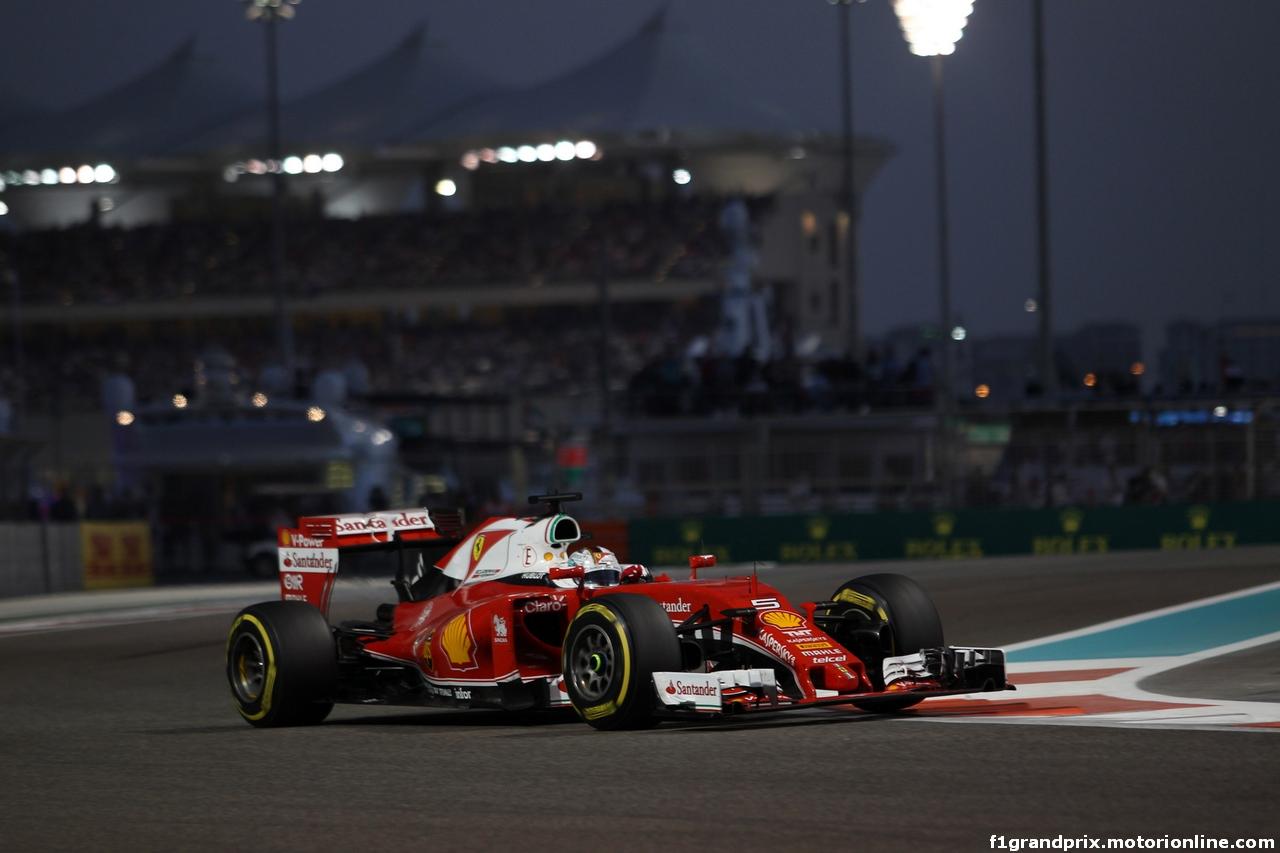 GP ABU DHABI, 27.11.2016 - Gara, Sebastian Vettel (GER) Ferrari SF16-H