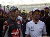 GP ABU DHABI, 27.11.2016 - Romain Grosjean (FRA) Haas F1 Team VF-16, Felipe Nasr (BRA) Sauber C34 e Fernando Alonso (ESP) McLaren Honda MP4-31