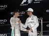 GP ABU DHABI, 27.11.2016 - Gara, 2nd place Nico Rosberg (GER) Mercedes AMG F1 W07 Hybrid e Champion 2016 e Lewis Hamilton (GBR) Mercedes AMG F1 W07 Hybrid vincitore