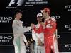 GP ABU DHABI, 27.11.2016 - Gara, 2nd place Nico Rosberg (GER) Mercedes AMG F1 W07 Hybrid e Champion 2016, Lewis Hamilton (GBR) Mercedes AMG F1 W07 Hybrid e Sebastian Vettel (GER) Ferrari SF16-H