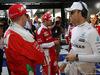 GP AUSTRALIA, 20.03.2016 - Kimi Raikkonen (FIN) Ferrari SF16-H, Sebastian Vettel (GER) Ferrari SF16-H e Nico Rosberg (GER) Mercedes AMG F1 W07 Hybrid