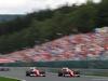 GP BELGIO, (L to R): Kimi Raikkonen (FIN) Ferrari SF16-H with team mate Sebastian Vettel (GER) Ferrari SF16-H. 28.08.2016. Gara