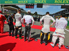 GP BELGIO, (L to R): Nico Hulkenberg (GER) Sahara Force India F1; Romain Grosjean (FRA) Haas F1 Team; Jolyon Palmer (GBR) Renault Sport F1 Team; e Pascal Wehrlein (GER) Manor Racing, as the grid observes the national anthem. 28.08.2016. Gara