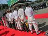 GP BELGIO, (L to R): Nico Hulkenberg (GER) Sahara Force India F1; Romain Grosjean (FRA) Haas F1 Team; Jenson Button (GBR) McLaren; Jolyon Palmer (GBR) Renault Sport F1 Team; e Pascal Wehrlein (GER) Manor Racing, as the grid observes the national anthem. 28.08.2016. Gara