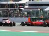 GP BELGIO, Sebastian Vettel (GER) Ferrari SF16-H spins alongside team mate Kimi Raikkonen (FIN) Ferrari SF16-H at the partenza of the race. 28.08.2016. Gara