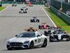 GP BELGIO, Nico Rosberg (GER) Mercedes AMG F1 W07 Hybrid davanti a behind the FIA Safety Car. 28.08.2016. Gara