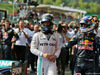 GP BELGIO, (L to R): Gara winner Nico Rosberg (GER) Mercedes AMG F1 e second placed Daniel Ricciardo (AUS) Red Bull Racing in parc ferme. 28.08.2016. Gara