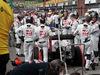 GP BELGIO, 28.08.2016 - Gara, Esteban Gutierrez (MEX) Haas F1 Team VF-16 in the pits as the race is stopped
