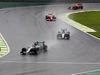 GP BRASILE, 13.11.2016 - Gara, Lewis Hamilton (GBR) Mercedes AMG F1 W07 Hybrid e Nico Rosberg (GER) Mercedes AMG F1 W07 Hybrid