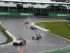 GP BRASILE, 13.11.2016 - Gara, Lewis Hamilton (GBR) Mercedes AMG F1 W07 Hybrid davanti a Nico Rosberg (GER) Mercedes AMG F1 W07 Hybrid behind the Safety car
