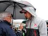 GP BRASILE, 13.11.2016 - Gara, Bernie Ecclestone (GBR), President e CEO of FOM e Esteban Gutierrez (MEX) Haas F1 Team VF-16