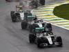 GP BRASILE, 13.11.2016 - Gara, Lewis Hamilton (GBR) Mercedes AMG F1 W07 Hybrid, Nico Rosberg (GER) Mercedes AMG F1 W07 Hybrid e Sergio Perez (MEX) Sahara Force India F1 VJM09