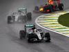 GP BRASILE, 13.11.2016 - Gara, Lewis Hamilton (GBR) Mercedes AMG F1 W07 Hybrid davanti a Nico Rosberg (GER) Mercedes AMG F1 W07 Hybrid