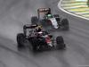 GP BRASILE, 13.11.2016 - Gara, Jenson Button (GBR)  McLaren Honda MP4-31 e Nico Hulkenberg (GER) Sahara Force India F1 VJM09