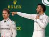 GP BRASILE, 13.11.2016 - Gara, secondo Nico Rosberg (GER) Mercedes AMG F1 W07 Hybrid e Lewis Hamilton (GBR) Mercedes AMG F1 W07 Hybrid vincitore