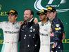 GP BRASILE, 13.11.2016 - Gara, secondo Nico Rosberg (GER) Mercedes AMG F1 W07 Hybrid, Lewis Hamilton (GBR) Mercedes AMG F1 W07 Hybrid vincitore e terzo Max Verstappen (NED) Red Bull Racing RB12