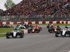 GP CANADA, 12.06.2016 - Gara, Start of the race, Nico Rosberg (GER) Mercedes AMG F1 W07 Hybrid e Lewis Hamilton (GBR) Mercedes AMG F1 W07 Hybrid