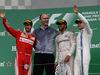 GP CANADA, 12.06.2016 - Gara, Lewis Hamilton (GBR) Mercedes AMG F1 W07 Hybrid vincitore, secondo Sebastian Vettel (GER) Ferrari SF16-H e terzo Felipe Massa (BRA) Williams FW38