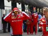 GP CINA, 17.04.2016 - Sebastian Vettel (GER) Ferrari SF16-H e Britta Roeske (AUT) Ferrari Press Officer.
