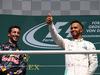 GP GERMANIA, 31.07.2016 - Gara, secondo Daniel Ricciardo (AUS) Red Bull Racing RB12 e Lewis Hamilton (GBR) Mercedes AMG F1 W07 Hybrid vincitore
