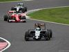 GP GIAPPONE, 09.10.2016 - Gara, Nico Hulkenberg (GER) Sahara Force India F1 VJM09 davanti a Kimi Raikkonen (FIN) Ferrari SF16-H e Lewis Hamilton (GBR) Mercedes AMG F1 W07 Hybrid