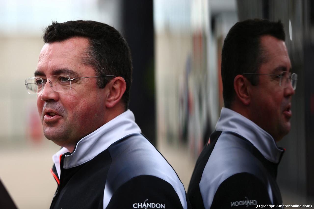 GP GRAN BRETAGNA, 10.07.2016 - Eric Boullier (FRA) McLaren Racing Director