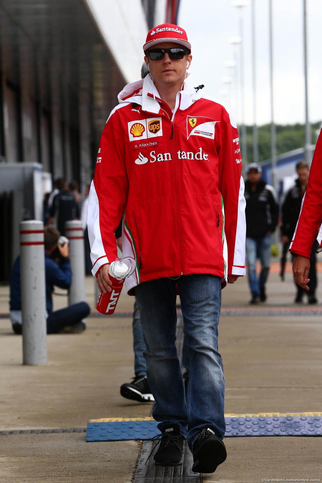 GP GRAN BRETAGNA, 10.07.2016 - Kimi Raikkonen (FIN) Ferrari SF16-H