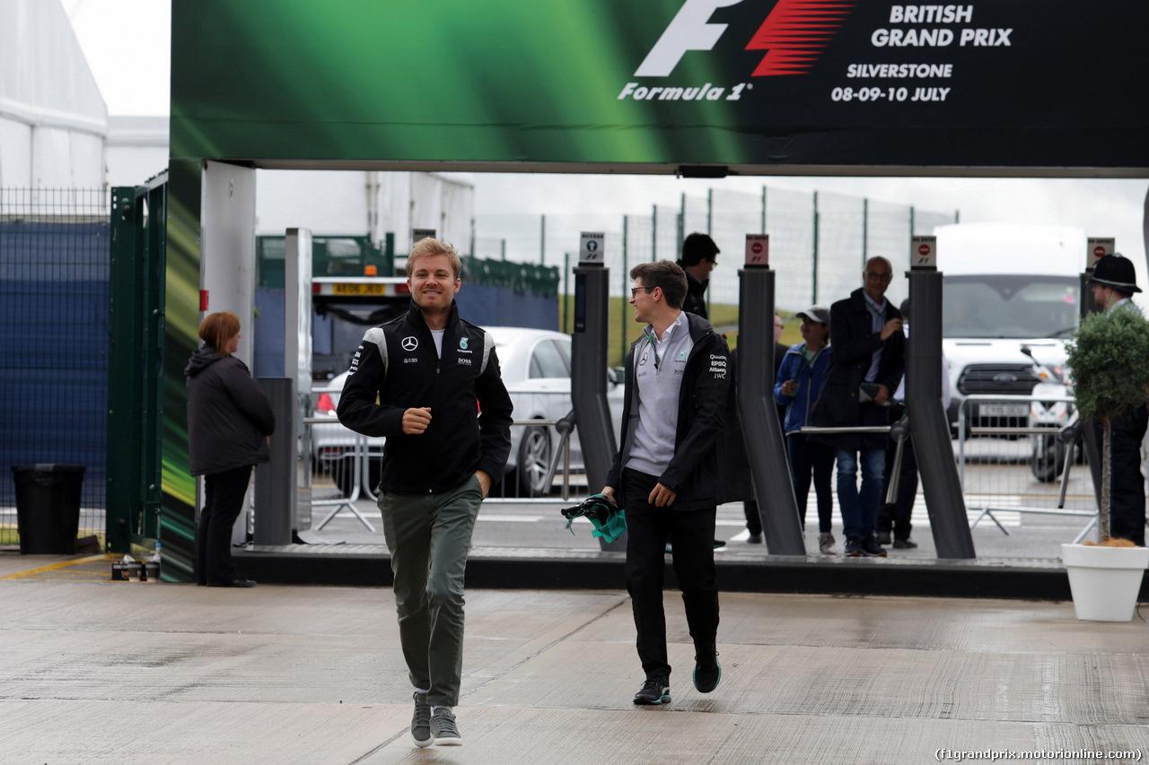 GP GRAN BRETAGNA, 10.07.2016 - Nico Rosberg (GER) Mercedes AMG F1 W07 Hybrid