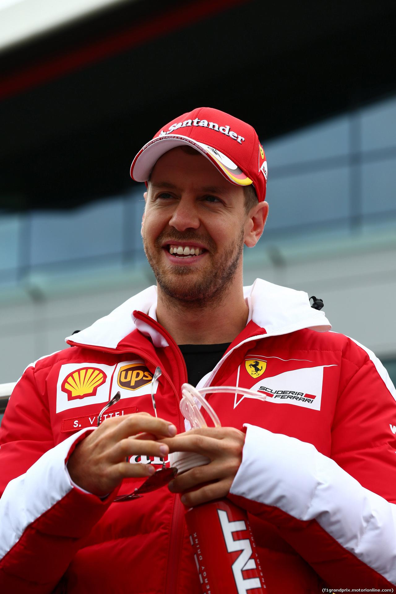 GP GRAN BRETAGNA, 10.07.2016 - Sebastian Vettel (GER) Ferrari SF16-H