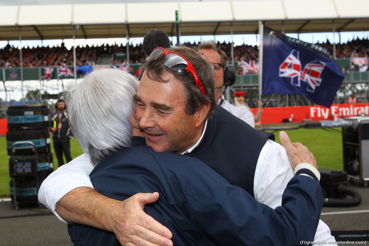 GP GRAN BRETAGNA, 10.07.2016 - Gara, Bernie Ecclestone (GBR), President e CEO of FOM e Nigel Mansell