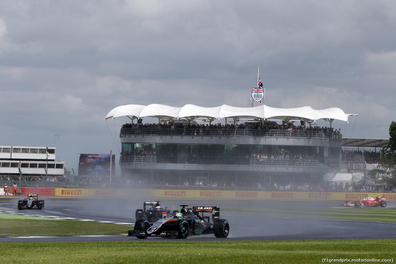 GP GRAN BRETAGNA, 10.07.2016 - Gara, Nico Hulkenberg (GER) Sahara Force India F1 VJM09