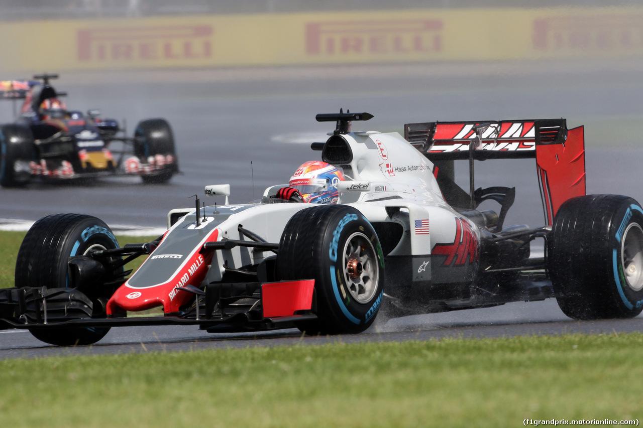 GP GRAN BRETAGNA, 10.07.2016 - Gara, Romain Grosjean (FRA) Haas F1 Team VF-16