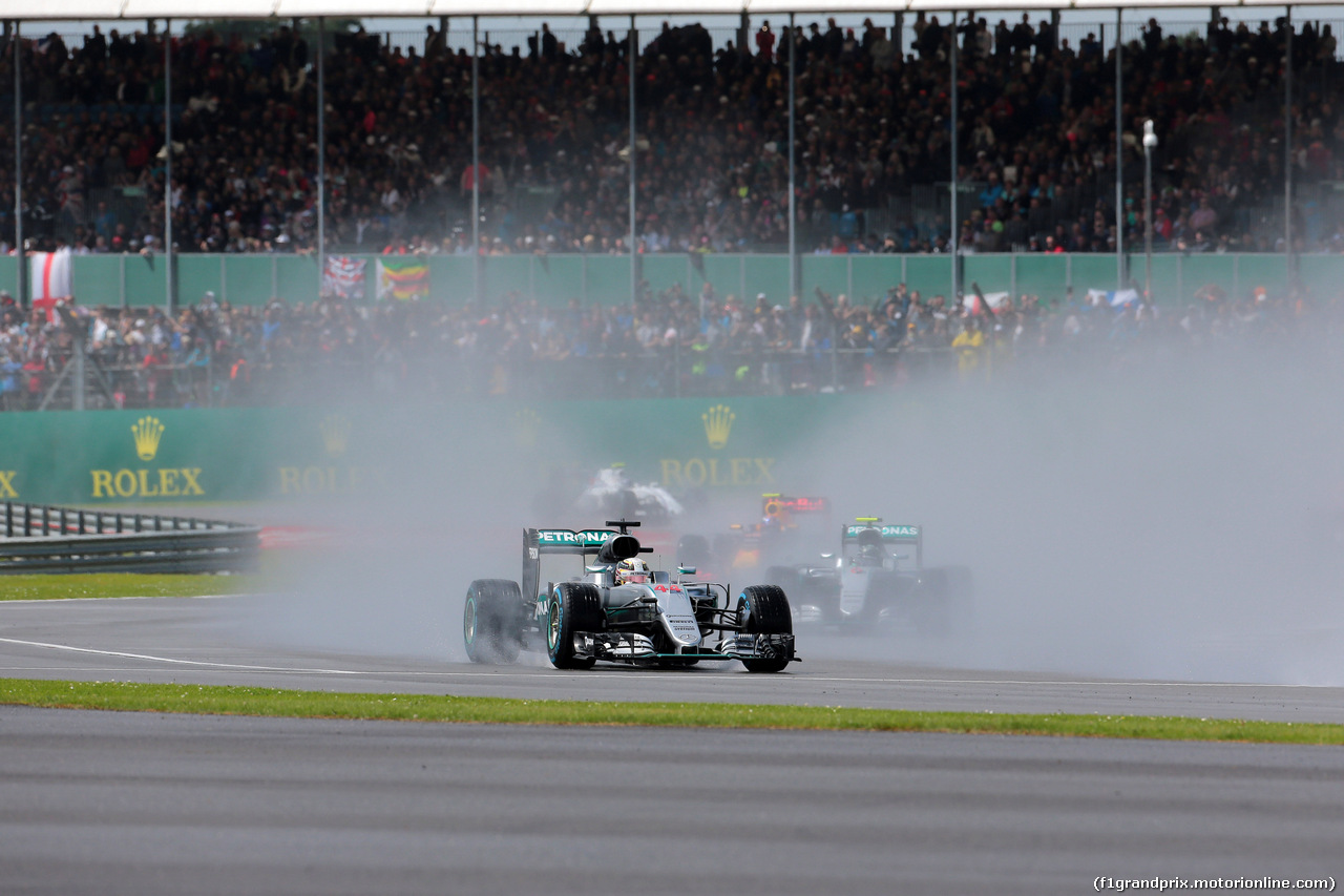 GP GRAN BRETAGNA, 10.07.2016 - Gara, Lewis Hamilton (GBR) Mercedes AMG F1 W07 Hybrid