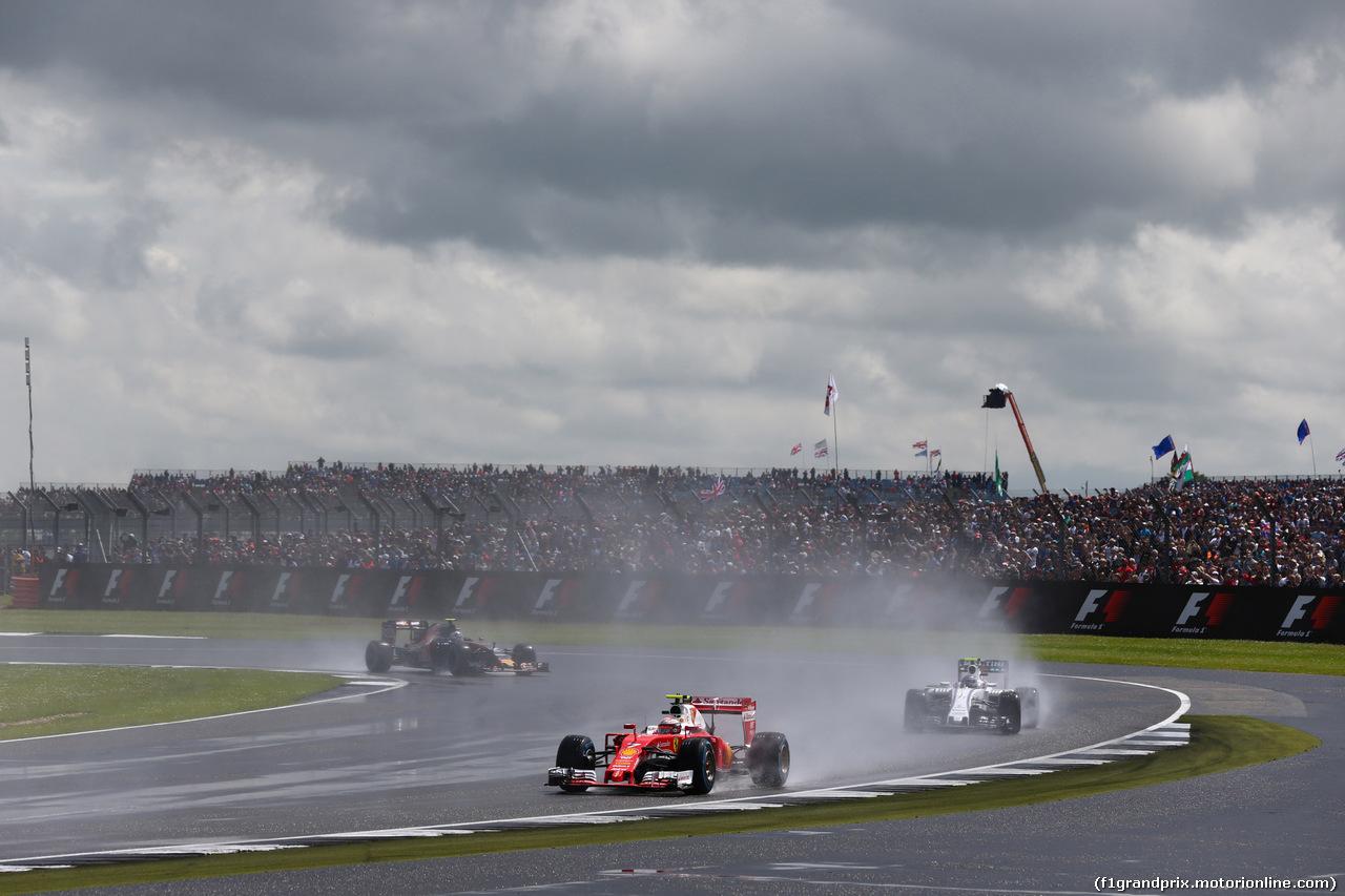 GP GRAN BRETAGNA, 10.07.2016 - Gara, Kimi Raikkonen (FIN) Ferrari SF16-H