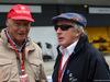 GP GRAN BRETAGNA, 10.07.2016 - Gara, Nikki Lauda (AU), Mercedes e Sir Jackie Stewart (GBR)