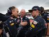 GP GRAN BRETAGNA, 10.07.2016 - Gara, Helmut Marko (AUT), Red Bull Racing, Red Bull Advisor e Max Verstappen (NED) Red Bull Racing RB12