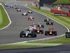 GP GRAN BRETAGNA, 10.07.2016 - Gara, Lewis Hamilton (GBR) Mercedes AMG F1 W07 Hybrid davanti a Nico Rosberg (GER) Mercedes AMG F1 W07 Hybrid e Max Verstappen (NED) Red Bull Racing RB12