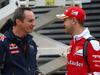 GP GRAN BRETAGNA, 07.07.2016 - Sebastian Vettel (GER) Ferrari SF16-H e Paul Monaghan (GBR) Red Bull Racing Chief Engineer