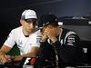 GP GRAN BRETAGNA, 07.07.2016 - Conferenza Stampa, Jenson Button (GBR)  McLaren Honda MP4-31 e Lewis Hamilton (GBR) Mercedes AMG F1 W07 Hybrid