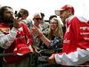 GP GRAN BRETAGNA, 07.07.2016Sebastian Vettel (GER) Ferrari with fans.