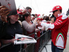 GP GRAN BRETAGNA, 07.07.2016- Kimi Raikkonen (FIN) Ferrari signs autographs for the fans.