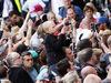 GP GRAN BRETAGNA, 07.07.2016- Lewis Hamilton (GBR) Mercedes AMG F1 signs autographs for the fans.