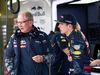 GP GRAN BRETAGNA, 09.07.2016 - Free Practice 3, Helmut Marko (AUT), Red Bull Racing, Red Bull Advisor e Max Verstappen (NED) Red Bull Racing RB12