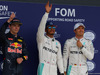GP GRAN BRETAGNA, 09.07.2016 - Qualifiche, terzo Max Verstappen (NED) Red Bull Racing RB12, Lewis Hamilton (GBR) Mercedes AMG F1 W07 Hybrid pole position e secondo Nico Rosberg (GER) Mercedes AMG F1 W07 Hybrid