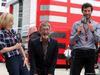 GP GRAN BRETAGNA, 09.07.2016 - Qualifiche, Susie Wolff (GBR), Eddie Jordan (GBR) e Mark Webber (AUS)