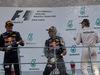 GP MALESIA, 02.10.2016 - Gara, secondo Max Verstappen (NED) Red Bull Racing RB12, Daniel Ricciardo (AUS) Red Bull Racing RB12 vincitore e terzo Nico Rosberg (GER) Mercedes AMG F1 W07 Hybrid