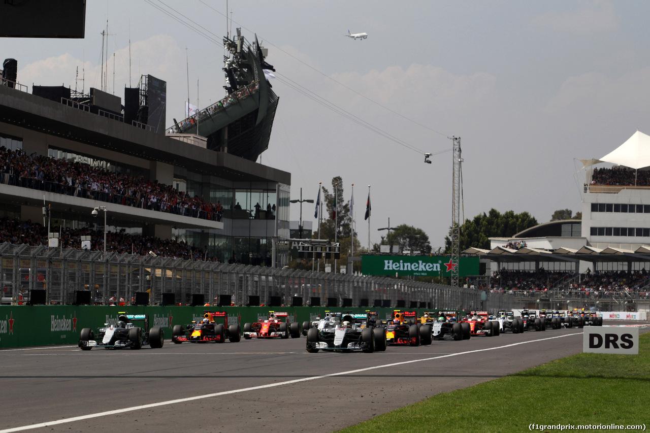 MEXICO GP, 30/10/2016 - Comienzo de la raza de la raza